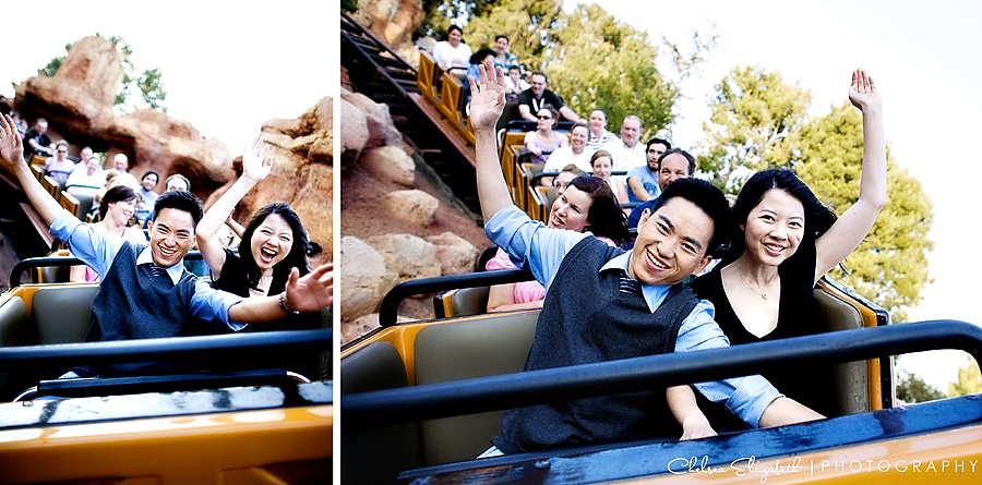 Thundermountain Ride Engagement Session Rollar Coaster
