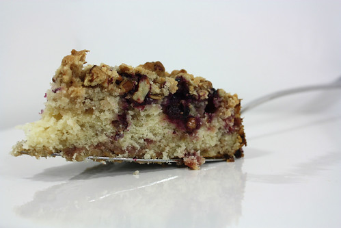 Serve Blueberry Rhubarb Buckle Cake