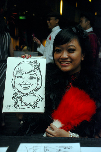 Caricature live sketching for CPGairport D&D - 4a
