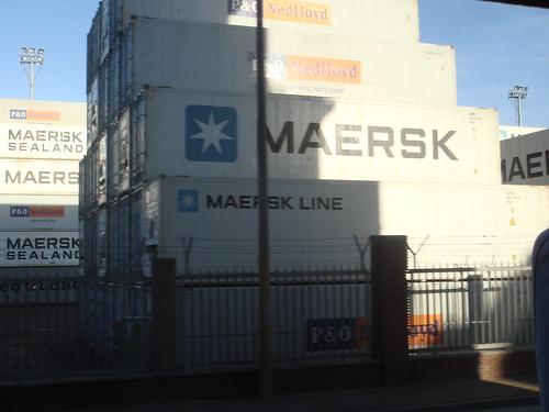Containers en el Puerto de Montevideo, Uruguay