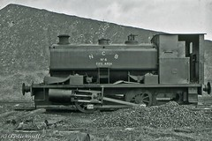 Andrew Barclay 2261 NCB Nellie No 6 18 April 1965 (pondhopper1) Tags: blackandwhite white black industrial steam railways ncb uksteam andrewbarclay 040st