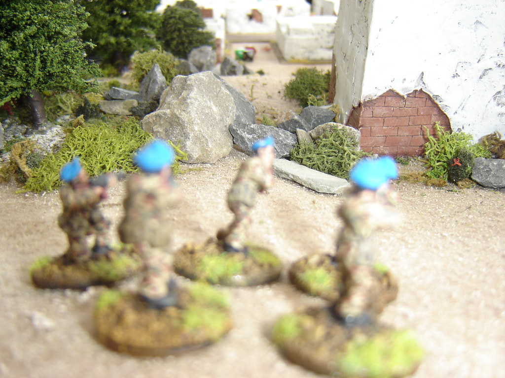 Airborne advance into tower overlooking town