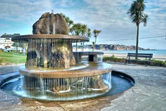 St. Brelades Fountain (Lewis Brock) Tags: sculpture beach water fountain seaside jersey hdr stbrelade d80