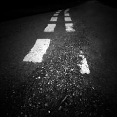 Tidal (Dave Pearson) Tags: road england bw 120 film mediumformat paint line pinhole lincolnshire zeroimage ilforddelta100 zeroimage2000 birthorpe