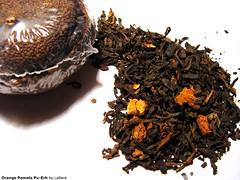 Pu Erh Orange Pamelo (Chashitsu_LaSere) Tags: tea chinesetea puerh puerhtea redtea pamelo orangepamelo