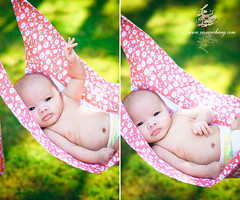 donny in a hammock (Vivian Chung Photography (KJmeow)) Tags: summer baby cute vancouver infant sweet outdoor ambientlight small naturallight hammocks sling tiny newborn don existinglight backlit relaxation blackhair slings telephotolens carriers canonef50mmf14 meitai darkeyes walkaroundlens 40d naturallightportrait portraitlens asianbabyboy babydon
