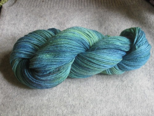 Patons dyed blue green