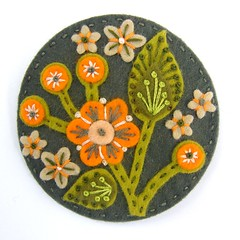 BLOSSOM FELT BROOCH WITH FREEFORM EMBROIDERY (APPLIQUE-designedbyjane) Tags: pin blossom embroidery brooch felt badge corsage applique freeform designedbyjane