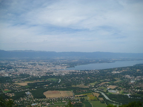Overlooking Geneva from Mont Salève, France