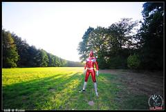LLB_Set83-2 (llbdevu) Tags: boy red sun color art grass costume shiny outdoor body metallic meadow sneakers converse tight bodysuit chucks spandex lycra catsuit llb unitard zentai ganzanzug