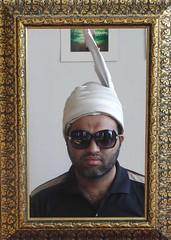 Man behind the lens (Ameer Hamza) Tags: portrait classic shirt hair beard site framed karachi clifton facial hamza sana khi hairs metropole ameer headgear pagar pagri adhia