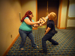 Zombie Kills Leon (stormymoorecosplay) Tags: park chris john hearts ada costume cosplay zombie alice south bleach evil kingdom stormy s moore leon wong wonderland naruto vivi kennedy chapman roxas pence resident redfield 2011 ouran vipperman stormymoorecosplay roundcon