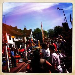 High Street (mistersnappy) Tags: square rides highstreet floss pinner helter skelter pinnerfair hipstamatic bridgestreetfaircandy