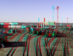 Train Yard HyperStereo (Anaglyph 3D) (patrick.swinnea) Tags: stereoscopic trains denver 3danaglyph
