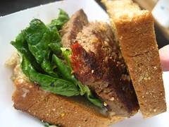 Buffalo meatloaf sandwich