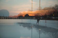 Wet skating rink