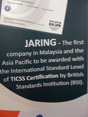 JARING awarded TICSS standard!