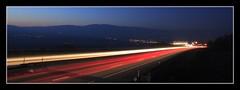 Lausanne - Yverdon (Zditch) Tags: trip travel light sun art nature beautiful car night canon eos switzerland soleil photo amazing nice photographie view suisse pics d voiture lausanne trail orbe 450 yverdon perspectiv