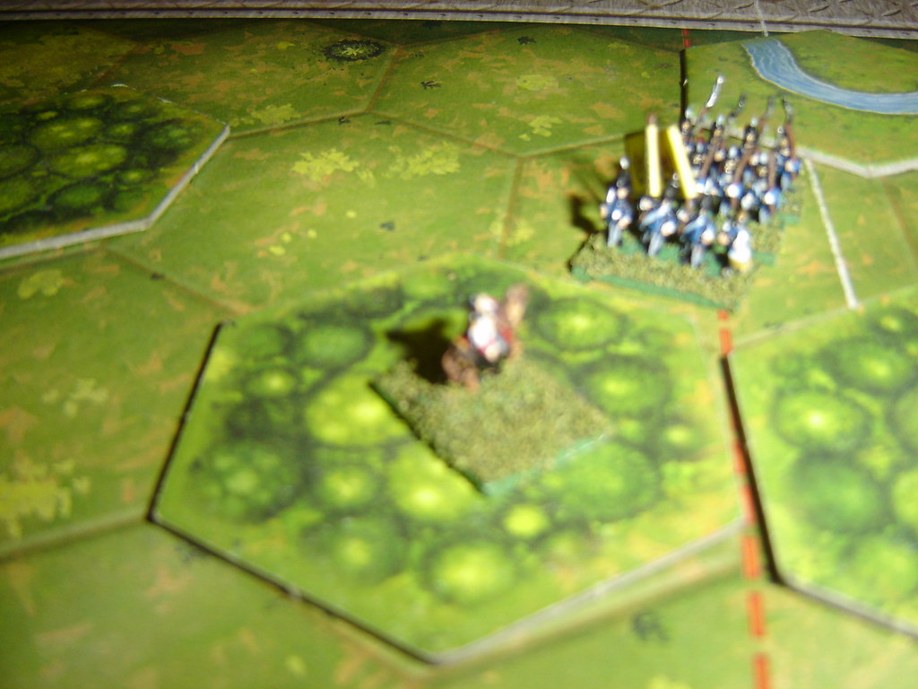 Colonel Trant is shot as he retreats with broken cavalry