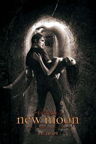 """New Moon Movie Poster #2"" ERD '09 by EmilyRoseDijkstra:."