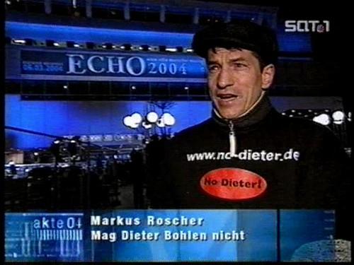 Markus Roscher bei der Echo Verleihung 2004