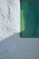alighted (ARTINOAH [...]) Tags: wood shadow white green window wall sting lanzarote raft float stigma buoy artinoah
