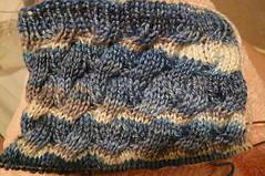 Foldover Cable Rhiannon Socks