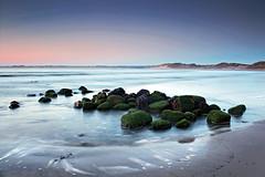 Tidal Pool (Kris.B.) Tags: longexposure sea motion beach water pool rock sunrise 35mm coast movement sand tide northumberland f11 polariser beadnellbay ndgrad canonef35mmf14lusm
