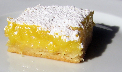 lemon bar on white