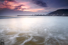 Agadir Sunset (Yoann Rigolleau ( busy , busy )) Tags: longexposure blue light sunset sky cloud color nature water photoshop canon wonderful landscape photo aperture wave agadir maroc canon5d fabulous paysage lowepro younglings singhray leefilter yoannrigolleau 2470canonf28l