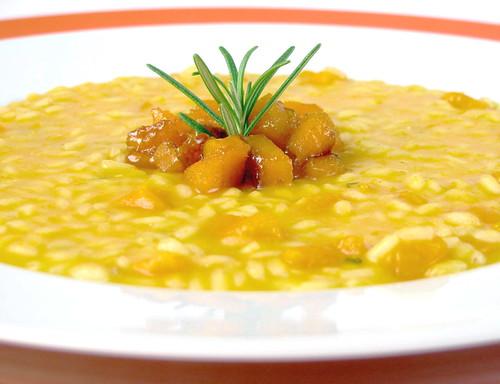 Risottino con zucca, arancia e rosmarino