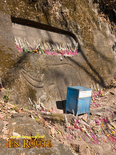 Wat Phu Champasak Festival Buddha Footprint