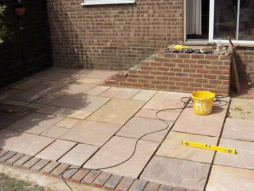 Indian Sandstone Patio and Lawn Image 14