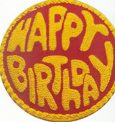 WILTON Cake Pan Happy Birthday 1976 1