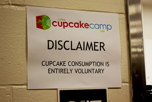 Cupcake Camp Disclaimer
