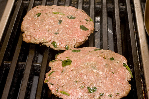 Grilling our Jucy Lucy Burgers