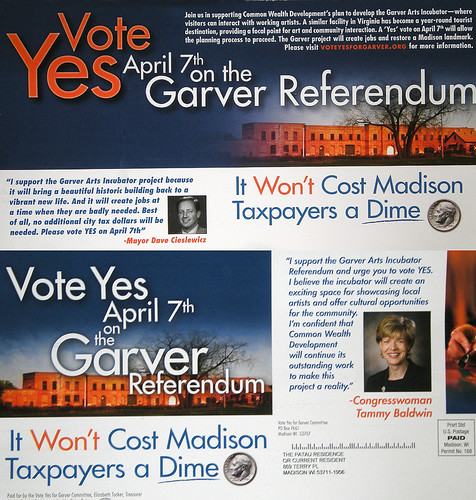 My Photo Helping Promote a Yes Vote on the Garver Referendum