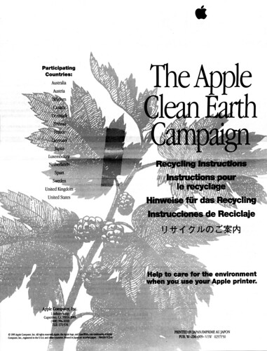 Apple Clean Earth Campaign