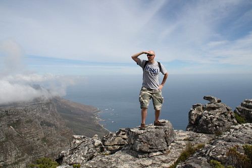Hubbers 'exploring' Table Mountain, Cape Town, South Africa