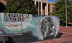 Jefferson Muzzles Promoted on the Free Speech Monument