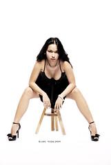 Zette (teejay joson) Tags: bw sexy fashion lady studio model glamour blackdress
