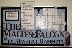 The Maltese Falcon Crossword Puzzle (nataliesap) Tags: crossword highschool april bulletinboard interactive maltesefalcon crosswordpuzzle liblibs bigread unihigh