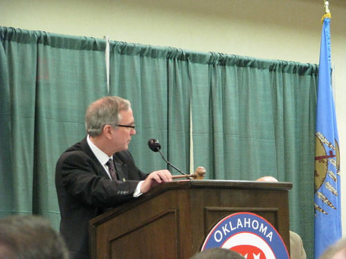 State Rep. John Wright presides at 2009 Oklahoma Republican Convention