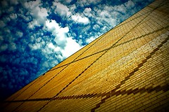 Sky Light (alibubba) Tags: sky building clouds bricks blueforyou excapture saturatedsaturday