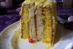 Easter cake with lime curd