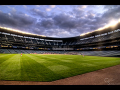 Safeco Field (Connor Surdi | www.connorsurdi.com) Tags: game field canon shot angle baseball stadium wide tokina mariners safeco 1224mm 30d uwa hdraward