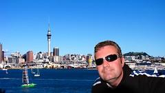 Soak Up the Sun - 141/365 (tharrin) Tags: blue sea newzealand portrait sun selfportrait sunglasses lyrics auckland skytower 365 rogue sherylcrow slightlyphotoshopped trp 365days soakupthesun d08 365i sx10is 365dec08 tharrin therogueplayers youllseemyofficeinthereflectionofmyshades itwasalreadygettingdarkwhenisawwhatthegroupwas andisooowantedtodothissong