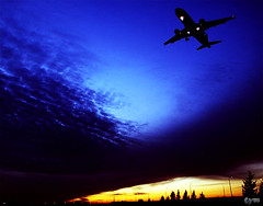 Landing from Day Light to the Darkness of the Night (Yaniv Ben Simon) Tags: light art night israel day darkness aviv landing fighting plain yaniv airplain ybs yanivbensimon wwwybscoil