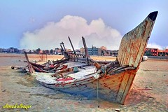 Remnants of a ship  ...    (Ahmed Albaqer  ) Tags: sea boat bahrain ship d70s remnants nikoncamera fishingship