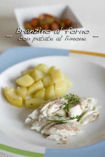 Branzino al forno con patate al forno